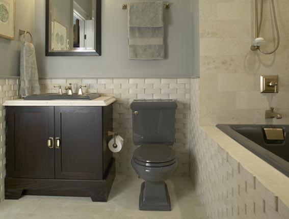Bathroom designs donco designs for Grey bathroom designs