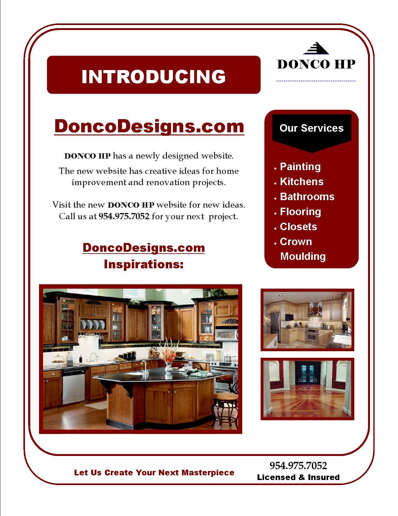 Donco Designs Flyer