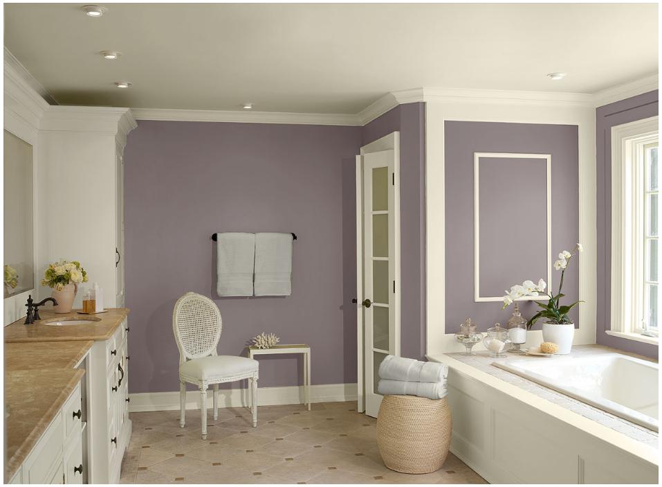 Benjamin Moore_Room by Color_Purple Bathroom