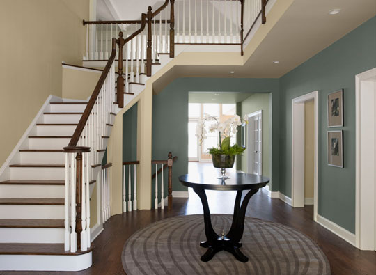 Photo Credit: Benjamin Moore - Labrador Blue - Wheeling Neutral - Feather Down