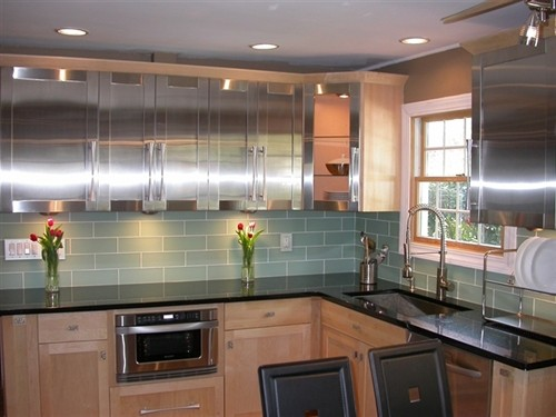 Donco designs is a pompano beach remodeling contractor - Frosted glass backsplash ...