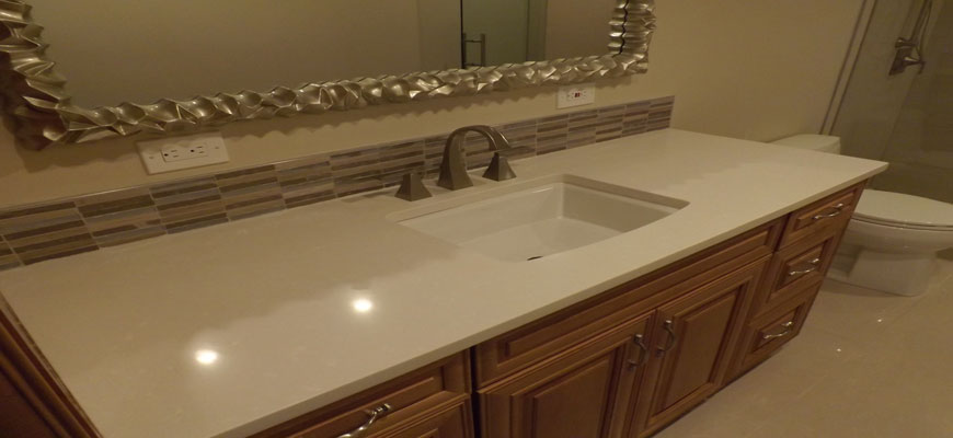 Pompano Beach Bathroom Quartz Countertop