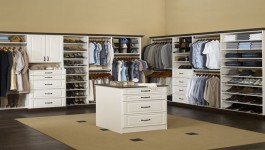 Custom Closet Design - Rubbermaid-Heirloom white