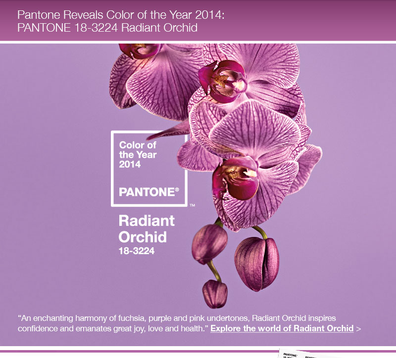 pantone color of year radiant orchid