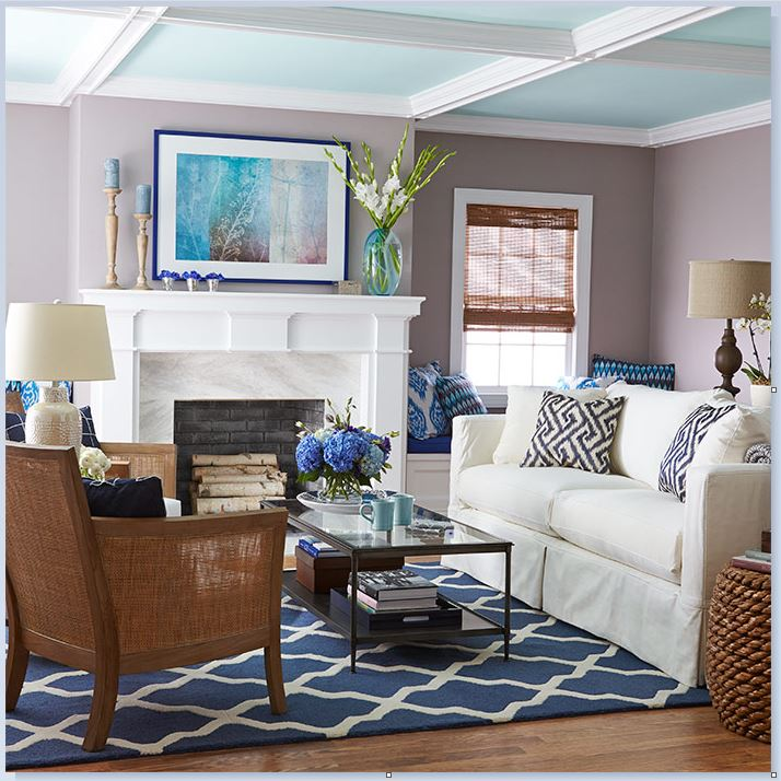 Photo credit: Lowes - Accent on Ceiling