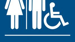 ADA bathroom sign