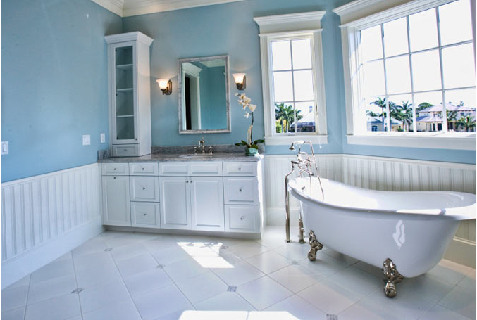 Donco designs is a pompano beach remodeling contractor - Bathroom remodel ideas with wainscoting ...