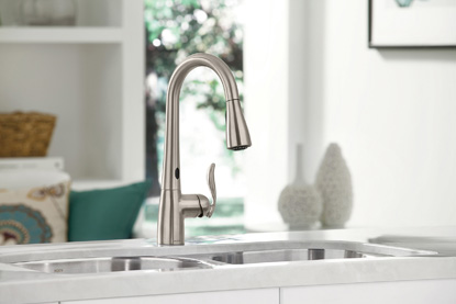 PHOTO CREDIT: MOEN TOUCHLESS FAUCET