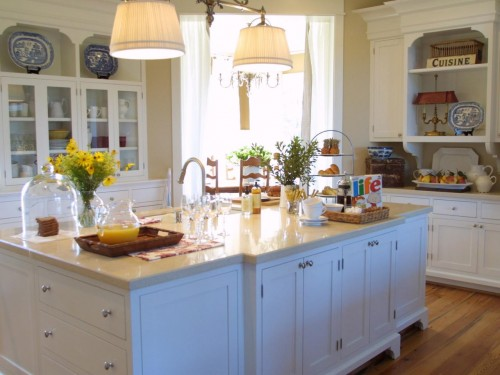 Creme Marble kitchen countertop