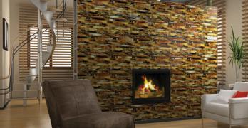 Glass Mosiac Fireplace - Daltile