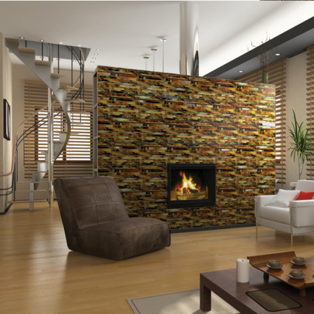 Glass Mosiac Fireplace - Daltile