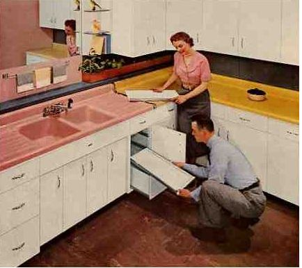 photo credit - Retro Renovation - 1954 American Standard Drainboard sink