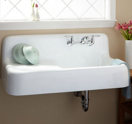 photo credit - wall hung farmhouse sink