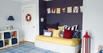 Photo credit: Benjamin Moore - Nautical - Kids bedroom