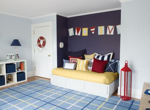 Photo credit: Benjamin Moore - Nautical - Kids bedroom