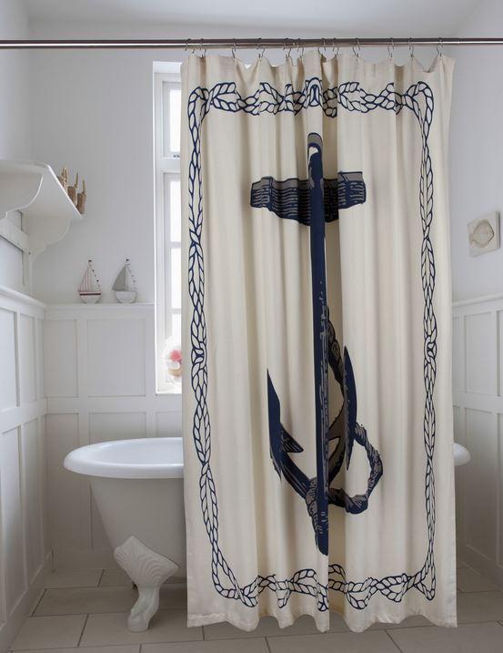Thomas Paul - Blue Anchor shower curtain - Wayfair.com