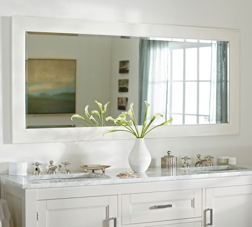 Photo credit - Pottery Barn - Double wide white mirror