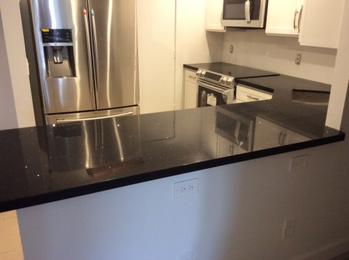 Stellar black - Silestone - by Cosentino Pompano Beach Quartz kitchen countertop -