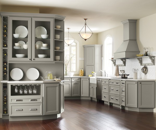 Gray Shaker Kitchen Cabinets Home Crest Cabinetry