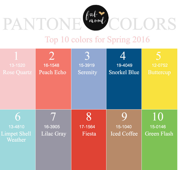 Pantone Spring Colors 2016 Fab Mood.com