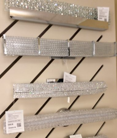 bathroom lighting u2013 crystal light bars & bathroom lighting - crystal light bars - Donco Designs azcodes.com