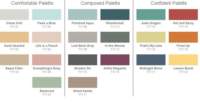 Behr 2017 Paint Color Trends Color Palette on paint color trends 2016