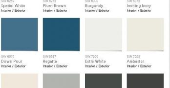 Pottery Barn and Sherwin Williams Seasonal Palette Fall 2016