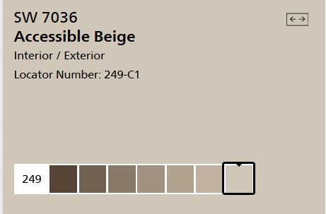 Sherwin Williams Accessible Beige SW 7036