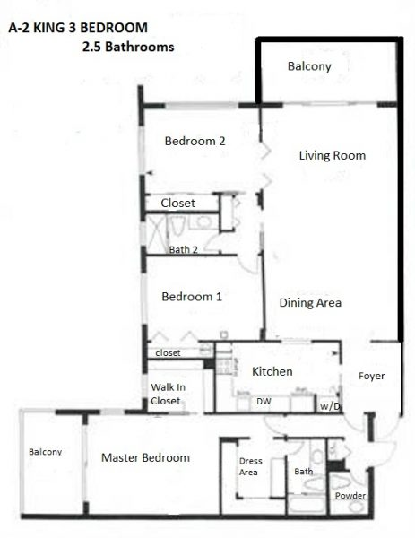 PALM AIRE FLOORPLAN 3-2.5 KING