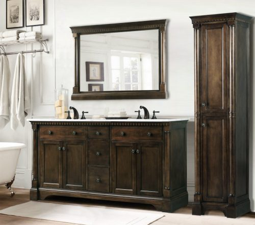 wood antique style vanity