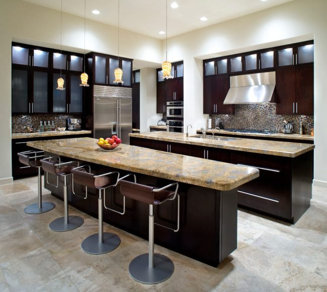 Double kitchen Island - with seating