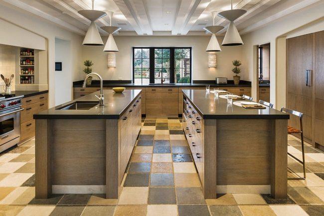 Double Kitchen Island - Large pathway