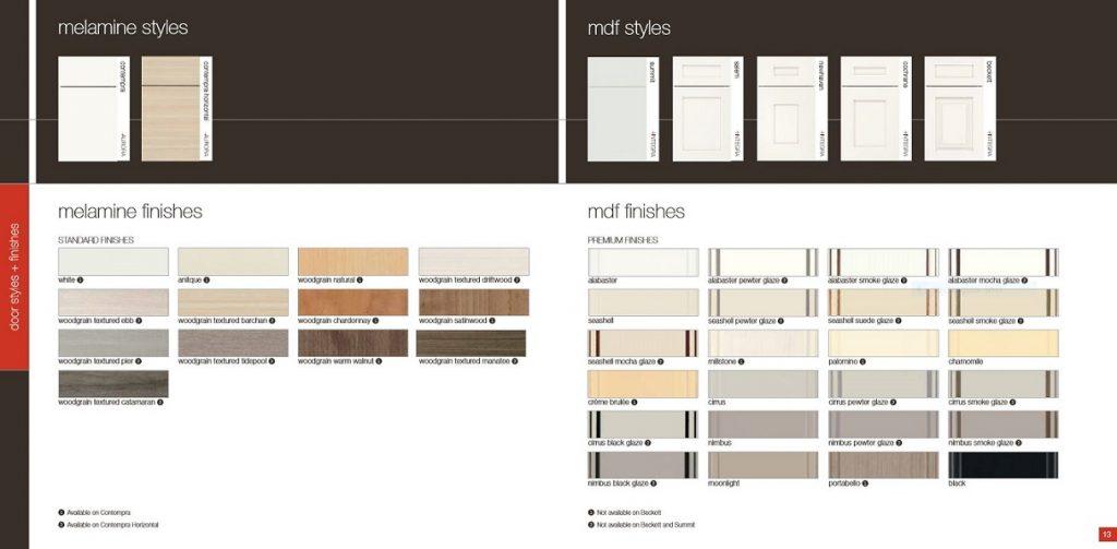 kitchencraft MDF and Melamine door styles