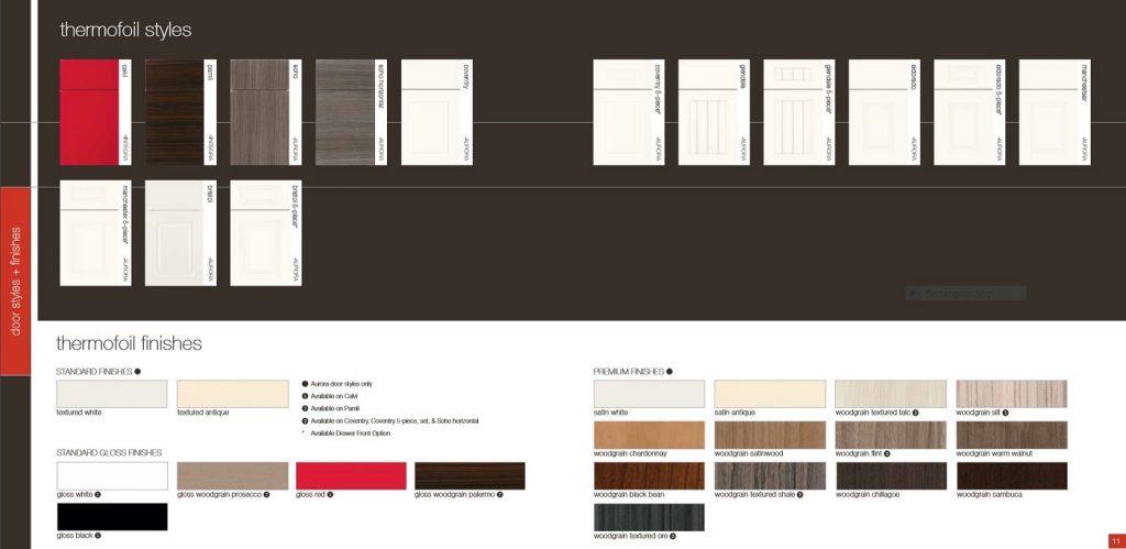 Kitchencraft thermofoil door styles