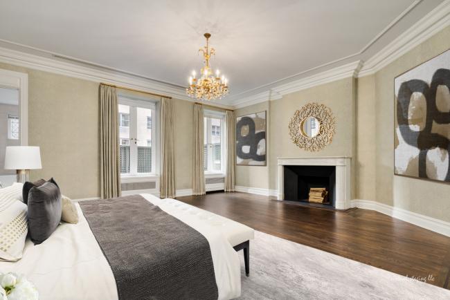 Nicole kidman NYC Bedroom -fireplace