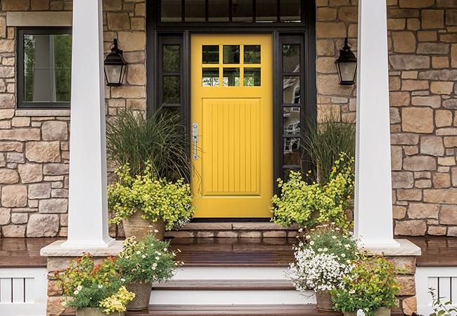 Yellow - Plank Craftsman Light Pella