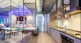 Glass filled South Beach Lenox Loft Delights with Creative Touches