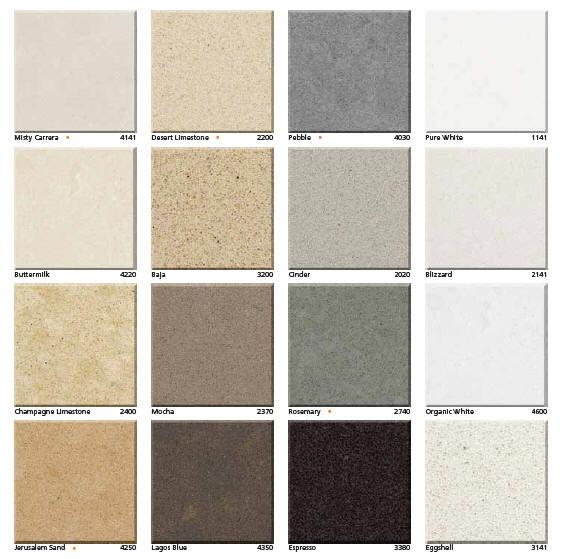 Caesarstone Quartz Color Samples