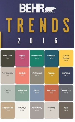 Behr Paint Color Trends 2016