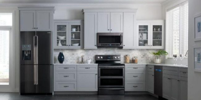 Black Stainless Steel Appliances Hot Kitchen Remodel And